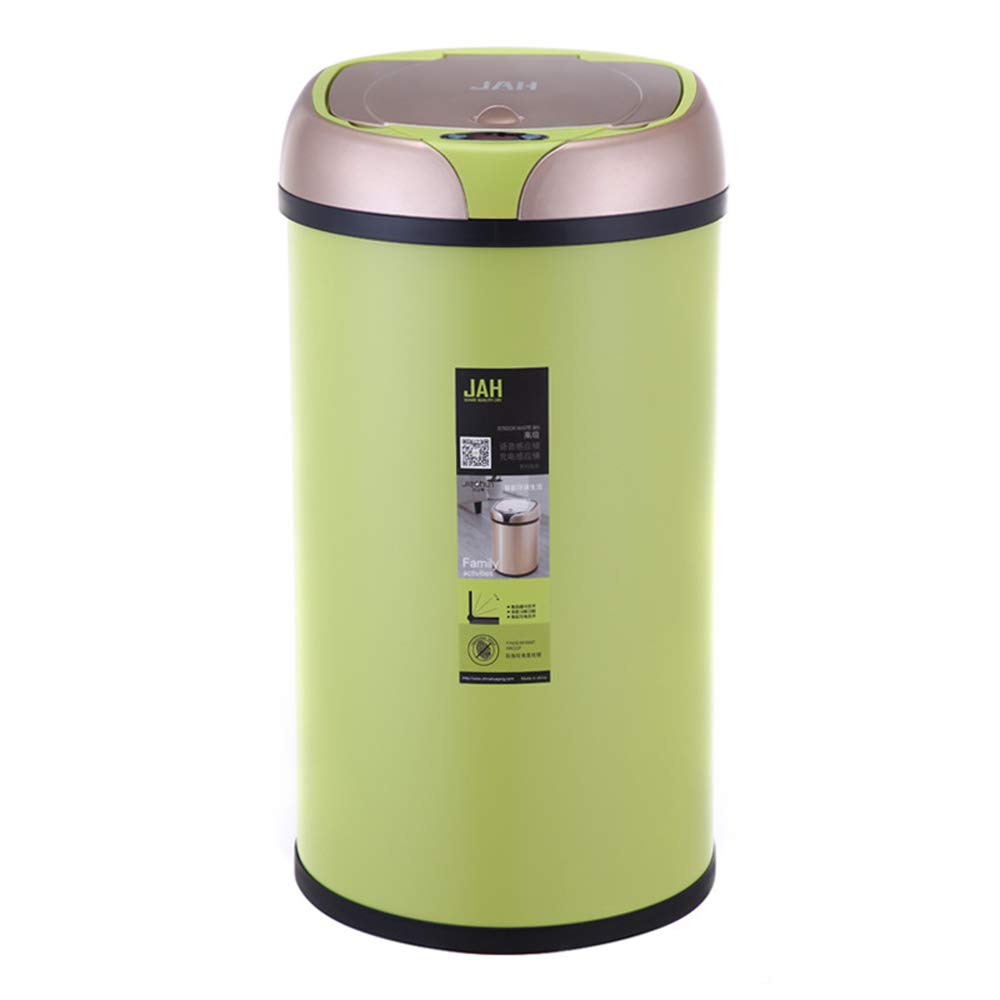 Trash Can Intelligent Electronic Sensor, 12L Rechargeable Voice Multi-Function, Suitable for Home Living Room Bedroom Kitchen Bathroom Electric ZDDAB