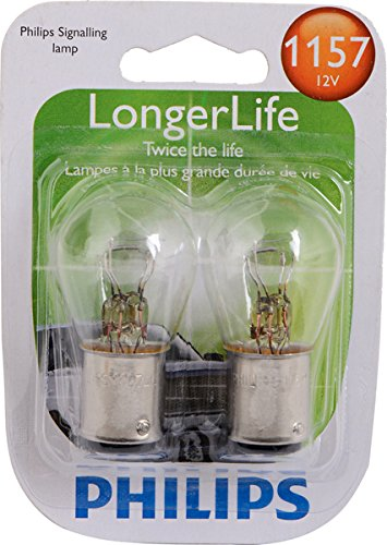 Philips 1157LLB2 1157 LongerLife Miniature Bulb, 2 - Philips Lamp 930