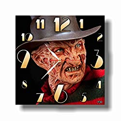 FBA Freddy Krueger - A Nightmare on Elm Street 11.4'' Handmade Wall Clock - Get Unique décor for Home or Office – Best Gift Ideas for Kids, Friends, Parents and Your Soul Mates.