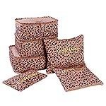 KIEJDH Household Portable Box Waterproof Clothes Organizer Storage Box Underwear Bra Packing Makeup Storage Bag 6Pcs/Set