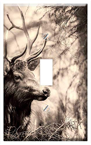 Switch Plate Single Toggle - Deer Elk Animal Wildlife Stag Male Antlers