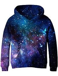 Teen Boys' Galaxy Fleece Sweatshirts Pocket Pullover...