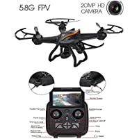 TechTroo Drone with 360 Degree Super Wide Angle HD Camera - 6 Axis Gyro Wi-Fi Phone Control Real-Time Video Supported Black CX-35
