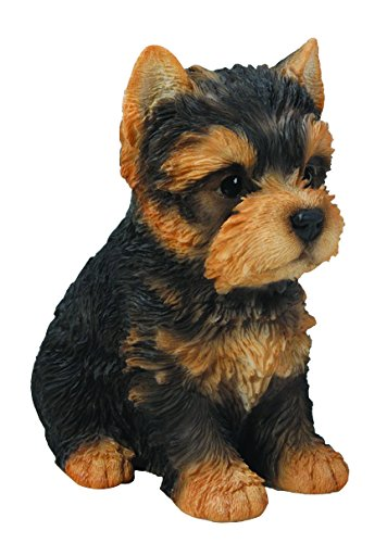 Hi-Line Gift Ltd Sitting Yorkshire Terrier Puppy, 65