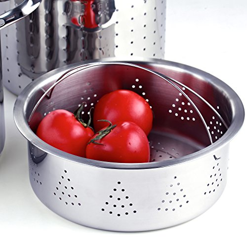 Cooks Standard Classic 4-Piece 12 Quart Pasta Pot Cooker Steamer Multipots, Stainless Steel by Cooks Standard (Image #3)
