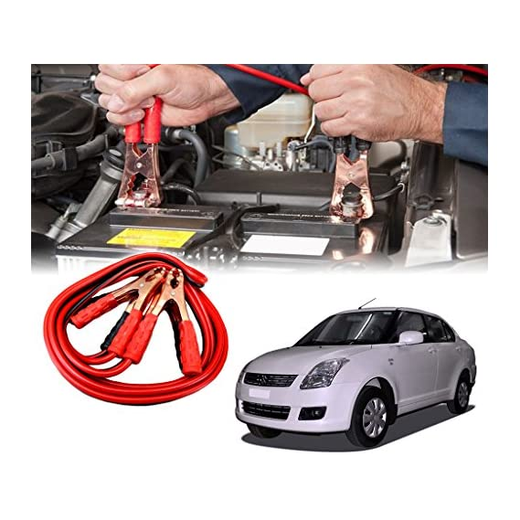 Auto Pearl - Car 500 Amp Heavy Duty Jumper Booster Cables Anti Tangle Copper Core 6ft for - Swift Dzire Old