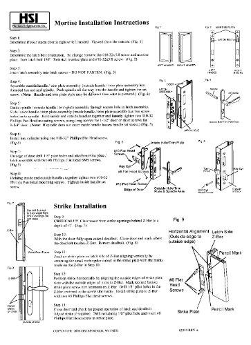Arlington Mortise Storm Door Hardware Satin Nickel by Door Hardware N' More (Image #3)
