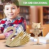 Hands Craft DIY 3D Wooden Puzzle Bundle Set, Pack