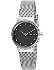 Skagen Womens Freja Quartz Stainless Steel Casual Watch, Color:Silver-Toned (Model: SKW2667)