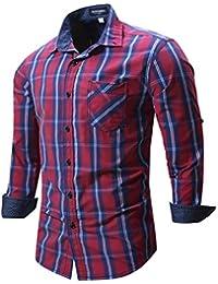 "<span class=""a-offscreen"">[Sponsored]</span>Men's Button Down Plaid Checkered Cotton Shirt Casual Shirt"