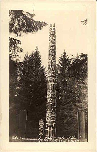 (The Community Totem Pole Sitka, Alaska Original Vintage Postcard)