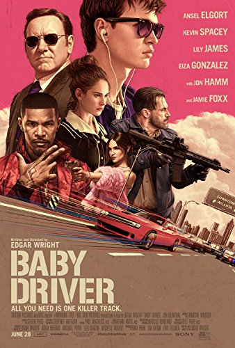 (Baby Driver Movie Poster Limited Print Photo Ansel Elgort Jon Hamm Kevin Spacey Jamie Foxx Size 27x40 #1)