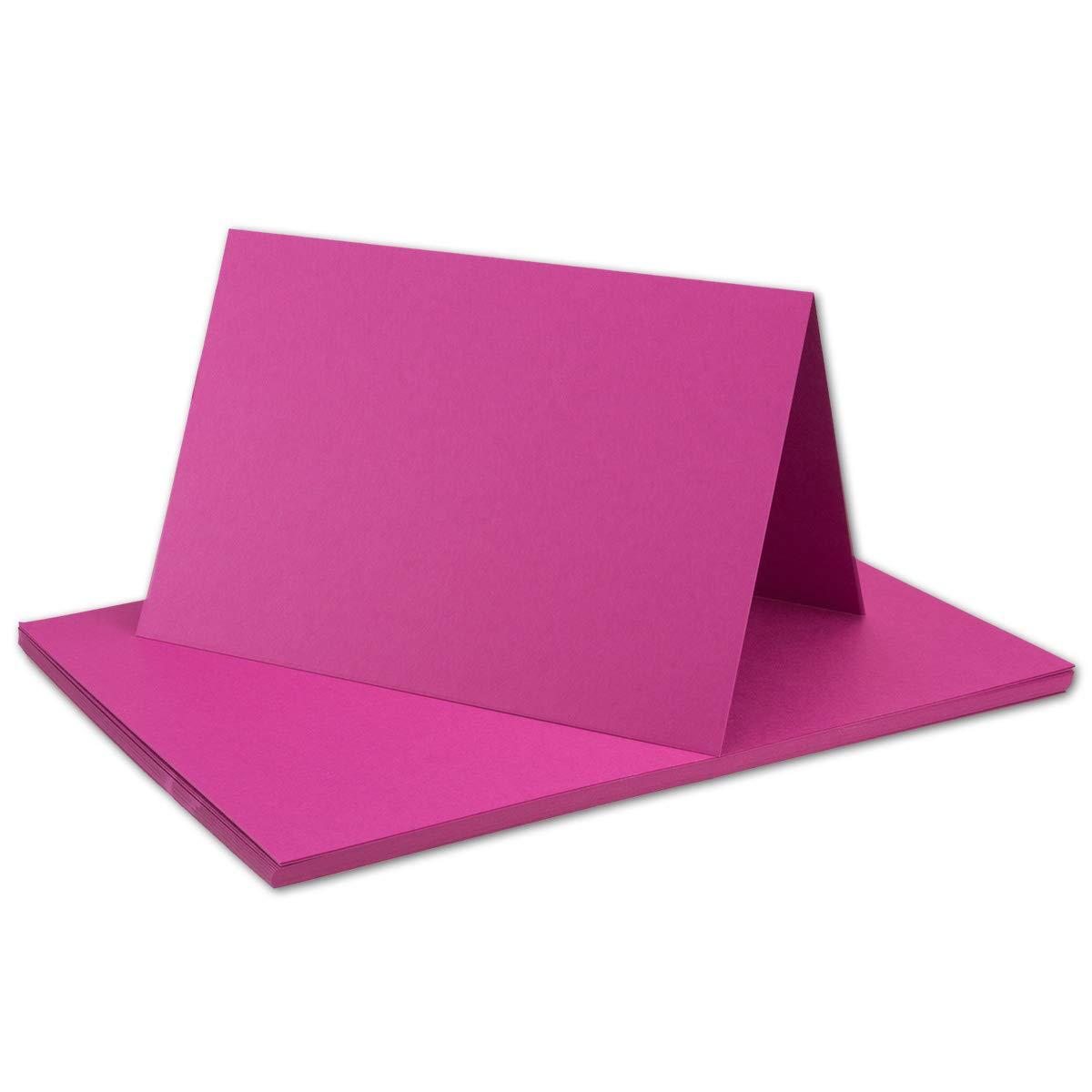 250x Falt-Karten DIN DIN DIN A6 Blanko Doppel-Karten in Hochweiß Kristallweiß -10,5 x 14,8 cm   Premium Qualität   FarbenFroh® B079T97966 Kartenkartons Sonderangebot 68f321