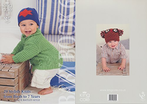 King Cole Baby Book Six Knitting Book Double Knitting Patterns Birth to 7 - Coats Sweater Patterns Knitting