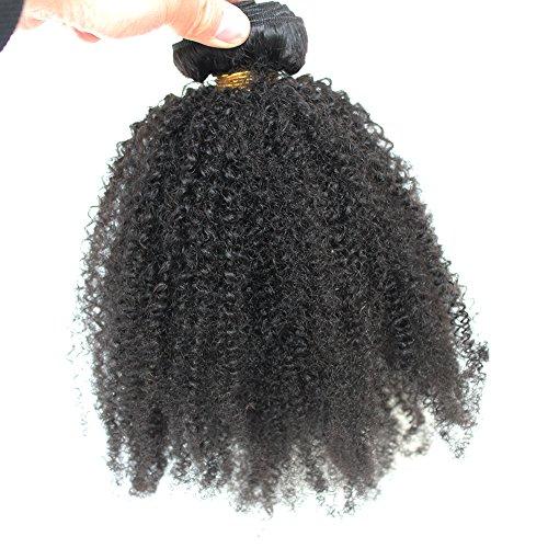 One Piece Bundle - ZigZag Hair Afro Kinky Curly Hair Brazilian Virgin Hair Weave Bundles 4B 4C 100% Human Hair Bundles One Piece Double Weft Hair Extension (20inch)