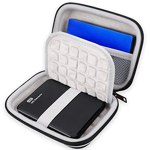 Lacdo EVA Shockproof Carrying Case for Western Digital My Passport Studio Ultra Slim Essential WD Elements SE Portable USB 3.0 Portable 2.5 inch External Hard Drive Travel Case Storage Bag, Large Size Photo #5