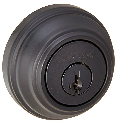 Kwikset Signature Double Cylinder Deadbolt feat SMT in Iron Black 985 514 SMT RCAL RCS -