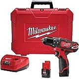 "M12™ Cordless 3/8"" Hammer Drill/Screw Driver RedLithium Kit (2 Batteries + Hard Case)"