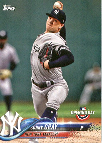 2018 Topps Opening Day #177 Sonny Gray New York Yankees Baseball Card
