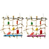 ForU-1 Pet Toy Acrylic Rope Net Swing Ladder Toy for Pet Parrot Birds Chew Play Climbing