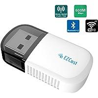 EZCAST Clé Adaptateur USB WiFi sans Fil WiFi Dongle 5G/2.5G USB Bluetooth 4.2 Adaptateur sans Fil Double Bande AC 600Mbps