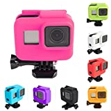 Anti-Scratch Silicon Gel Camera Protective Case Cover Shell Housing for Gopro Hero 5 GO Pro Hero 6 GoPro Hero 2018 Action Camera Go Pro Accessories (Pink)