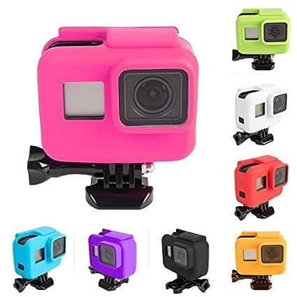 Amazon.com: Carcasa protectora de silicona para cámara GoPro ...