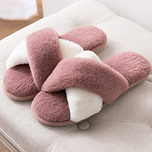 Taille Coton Fond Femme Belle 39 Pantoufles Et Version Hiver En couleur Intérieur Automne 40 Le Jaune Red Td Coréenne qZE8w