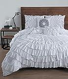 Avondale Manor Sadie 5Pc Circle Ruffle Comforter - King - White