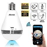 JBonest 1080P WiFi Camera Light Bulb Panoramic Camera with...