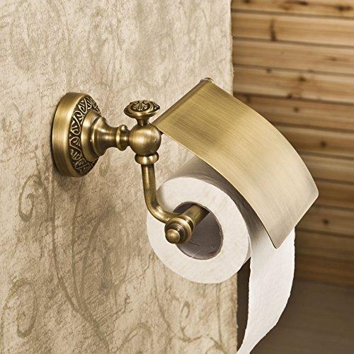 Leyden Antique Brass Toilet Paper Holder Roll Tissue Bracket