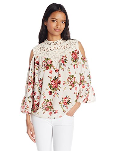 Angie-Womens-Cold-Shoulder-High-Neck-Top