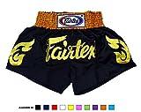 Fairtex Muay Thai Boxing Shorts BS0652 Golden Horn, Size L