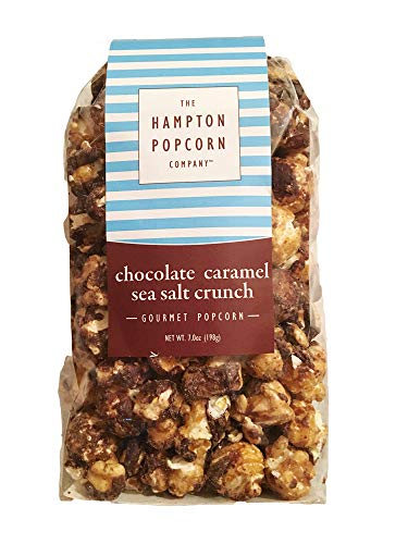 Hampton Popcorn Tasty Delicious Gourmet Popcorn Crispy & Crunchy, 7 Ounce! Tasty Delicious Snack Perfect for Movie Marathon! Choose your Coated Flavor Popcorn! (Chocolate Caramel Sea Salt)