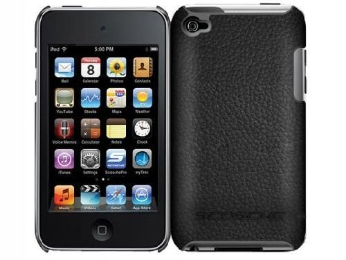 Scosche beefKASE Polycarbonate Case with Leather for iPod touch 4G (Black)