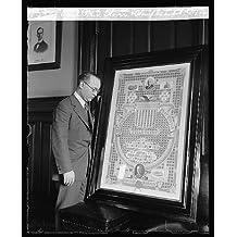Photo: Asst. P.M.G. Glover & stamp exhibit,5/1/23