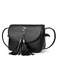 NOTAG PU Leather Crossbody Bag for Women Small Daily Purse Wallet Clutch Fashion Casual Shoulder Bag with Tassel