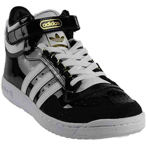 Patent Mens Sneakers (adidas Originals Men's Concord II Mid Fashion Sneaker, Black/White/Metallic/Gold, 8.5 M US)