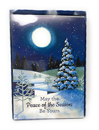 May the Peace of the Season Be Yours Box set Paper Cards with Envelopes Happy Holiday Greeting