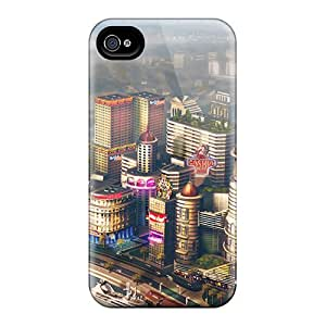 Cute Appearance Cover/tpu SFhEi4117kSanB 2013 Simcity Game Concept Art Case For Iphone 4/4s