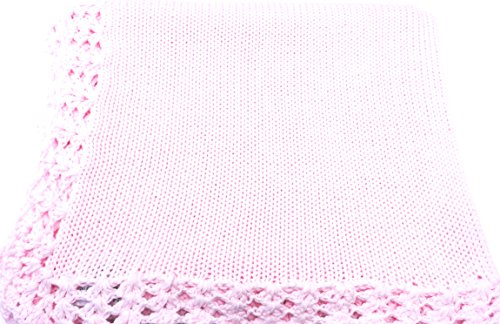 knitted-hand-crochet-finished-pink-cotton-baby-blanket