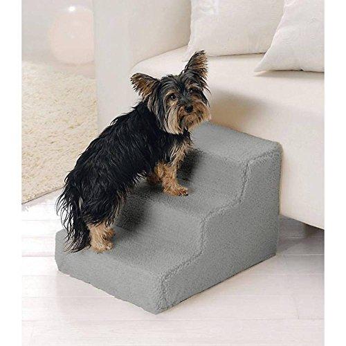 Hundetreppe Haustiertreppe waschbarer Plüschbezug Hunde Katze Aufstiegshilfe NEU