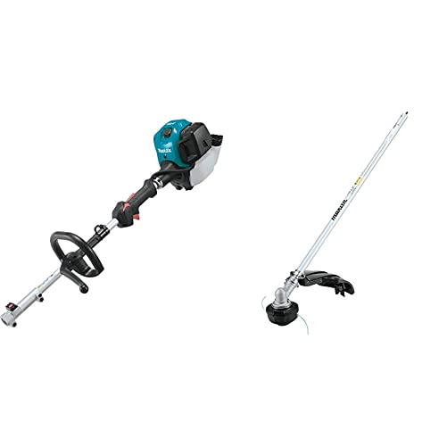 Makita EX2650LH 25.4 cc MM4 4-Stroke Couple Shaft Power Head and EM405MP String Trimmer Couple Shaft Attachment