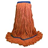 Boardwalk UNS 504OR BWK504OR Mop Head, Super Loop Head, Cotton/Synthetic Fiber, X-Large, Green (Pack of 12)