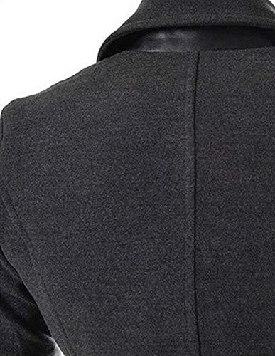 Gabardina Invierno Dunkel Invierno Parka Abrigo para Elegante Hombres Collar Abrigo De Casual Chaqueta Lana Invierno De Modernas De Pie Chaqueta De Hombres Chaqueta De Hombres Chaqueta De YBqFxOp