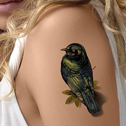 TAFLY Bird Tattoos Waterproof 3D Body Art Temporary Tattoos Stickers for Women 5 -