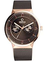 OBAKU V170GMVBMB Mens Wrist Watches, Classic Multifunction Watch with 3 Hands