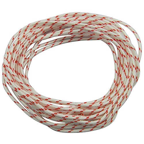 Affordable Parts New Nylon Lawn Mower Pull Cord Recoil Starter Rope 8 -Meter (Diameter: 4.0mm) for Husqvarna Stihl Poulan Chainsaw String Trimmer