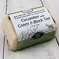 Cucumber with Green and Black Tea Goat Milk Soap