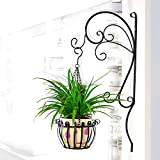 LJHA huajia Flower Racks Iron Wall Hanging Flower Rack Balcony Flower Stand Hanging Orchid pots Wall Hanging Flower Rack (50 30cm)